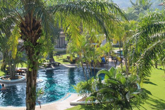 The Pe La Resort: View of the pool from our room