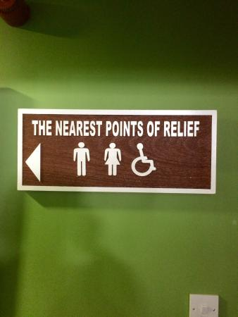 The Golf Box: Sign to the loos