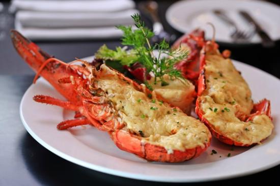 Canet-Plage, Frankrig: Lobster Thermidor - special treats only!