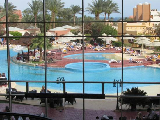Nubian Island Hotel: Looking out from Hotel balcony