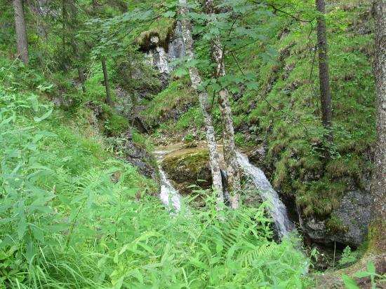 Hinterstein, Niemcy: Wasserfall weiter oben