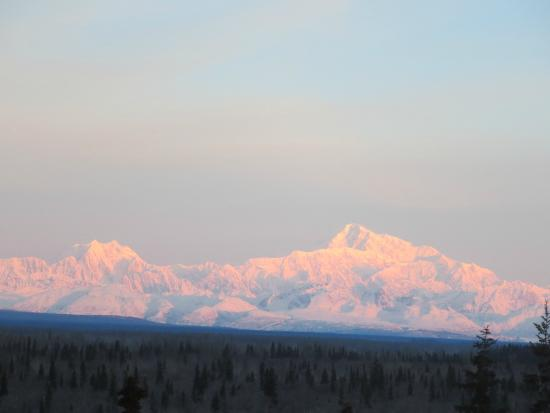 View of Denali from our room at Denali Overlook Inn