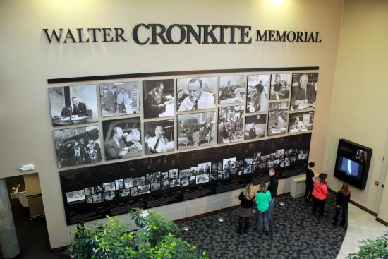 Walter Cronkite Memorial Life and Career Timeline and Kiosk