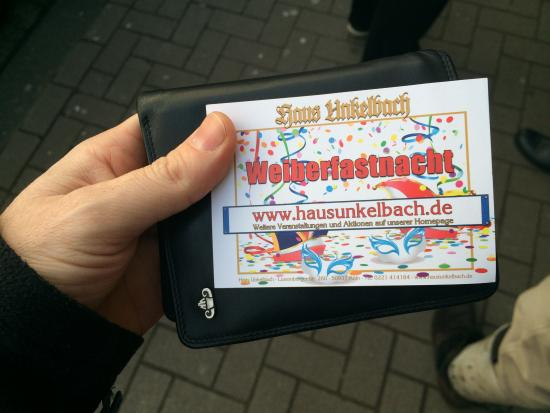 Haus Unkelbach: The ticket