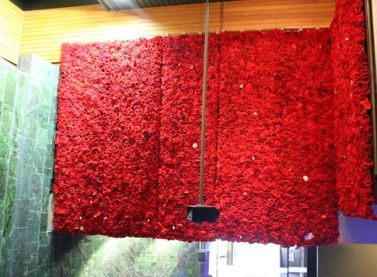 National Army Museum : Some of the poppy wall