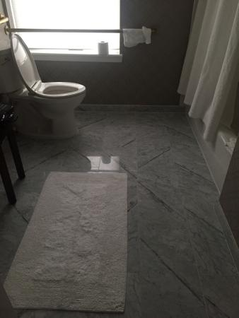 The Lancaster: Love this bathroom floor!