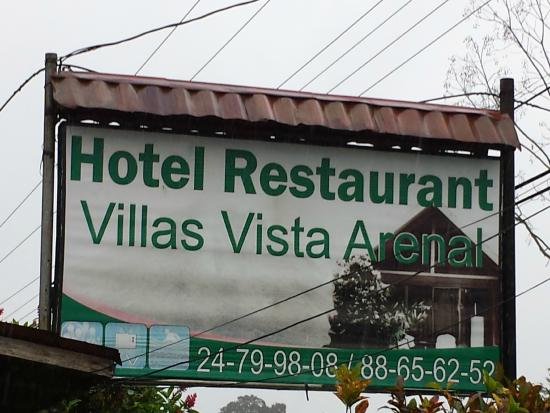 Hotel Villas Vista Arenal: Sign