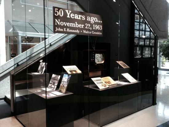 Walter Cronkite Memorial: The Kennedy Assassination Artifacts case.