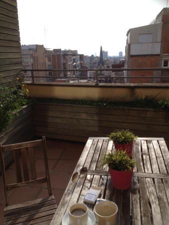 Aparthotel Senator Barcelona: Terraza penthouse