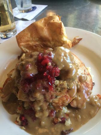 Blue Plate Kitchen: Turkey dinner- not bad- a little dry