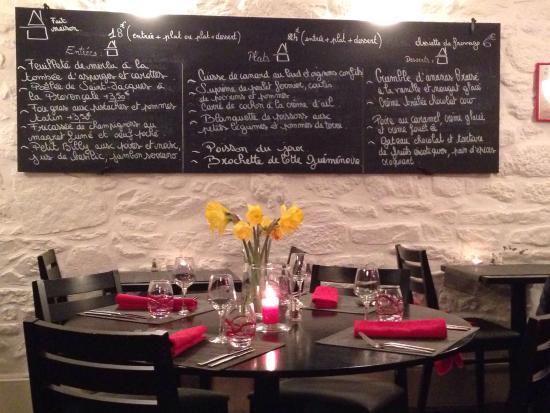 Restaurant La Courtine Dinan Menu