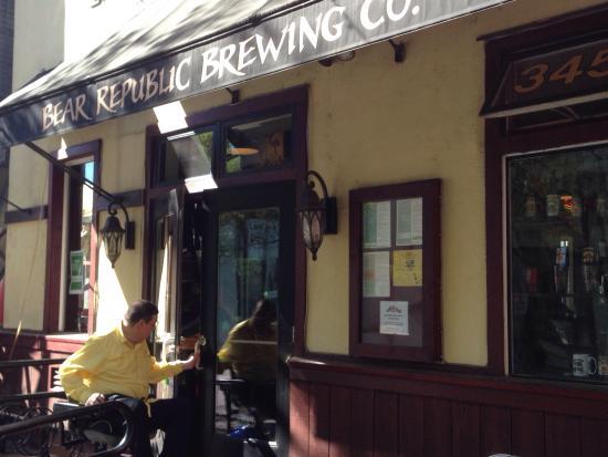Bear Republic Brewing Company: Entrance to Bear Republic Brewery Restaurant - Healdsburg, CA
