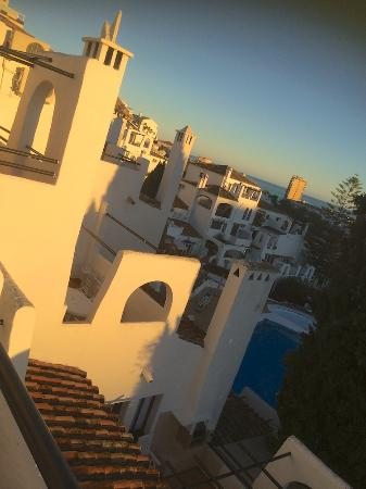 evening view from the balcony