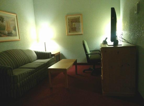 Best Western Plus Sebastian Hotel & Suites: Living Room - Needs new sofa!