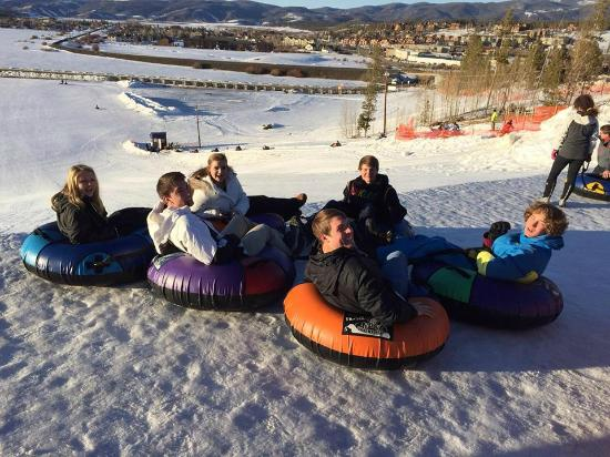 Fraser Tubing Hill: Our teens tubing Fraser hill