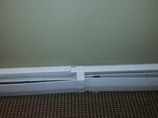 Hotel Frisco: The baseboard heaters were in sad shape.