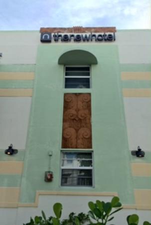 the new hotel facade