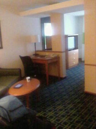 Fairfield Inn & Suites by Marriott Brunswick Freeport : view from the lounge/living area