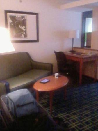 Fairfield Inn & Suites Brunswick Freeport: couch/desk
