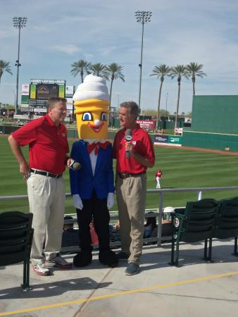 Goodyear Ballpark: Jim Day * Chris Welsh and Mr. Softie