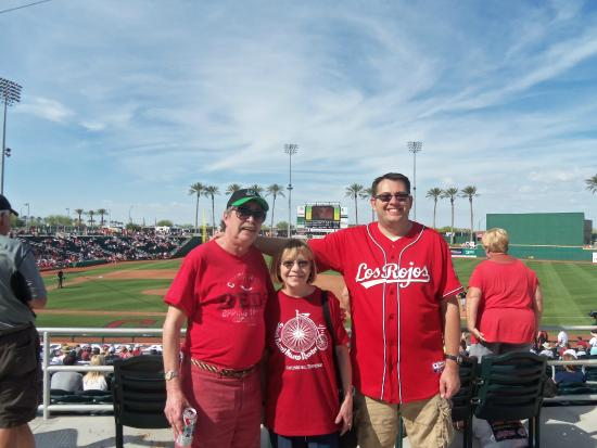Goodyear Ballpark: sunny goodyear afternoon at the old ballyard