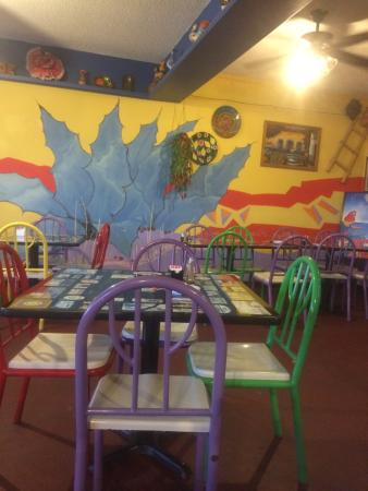 El Ranchero Restaurant: The dining room.