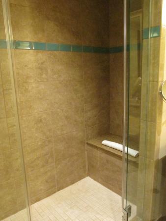 Amazing shower area w/ bench & glass door - Picture of Harrah\'s ...