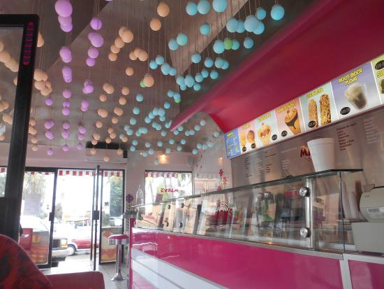 Ever-changing funky Lights at Mary's Ice-cream Restaurant