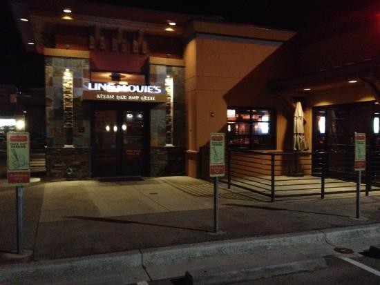Ling and Louie's Asian Bar & Grill: Curbside pickup and external view - evening