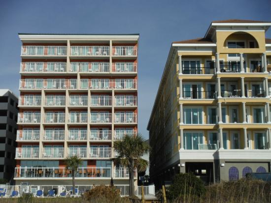 Hotel Backed On To The Beach Picture Of Myrtle Atlantic 3 Palms
