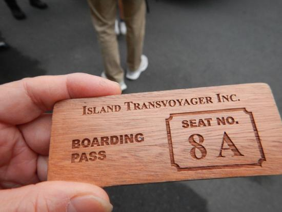 El Nido Resorts Miniloc Island: 専用機の搭乗券