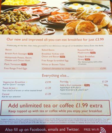Cold food - Picture of Toby Carvery, Crawley - TripAdvisor