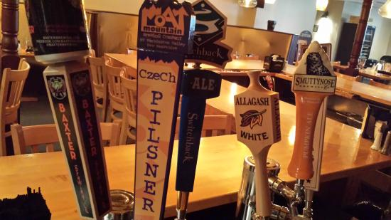 Coyote Grill: We offer 6 New England craft beers on tap.  Tap list changes seasonally.