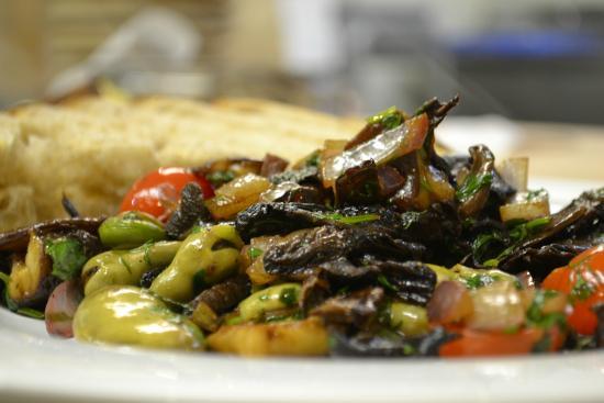Mint : Portobello muchrooms and fresh fava beans
