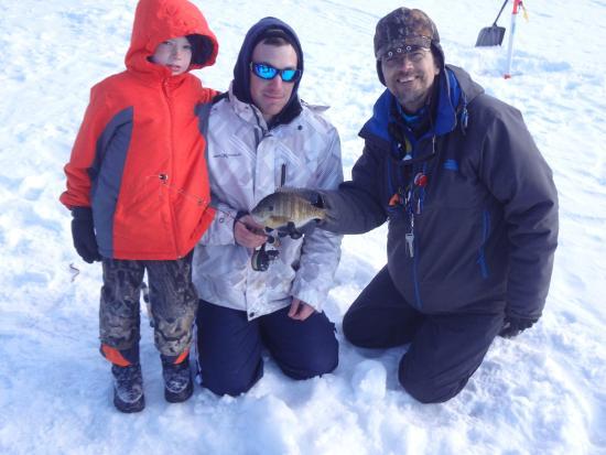 Streams and Dreams: Mr Don teaching us to ice fish at Deep Creek Lake.