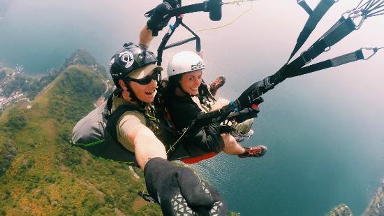 Paragliding Panajachel: After take off