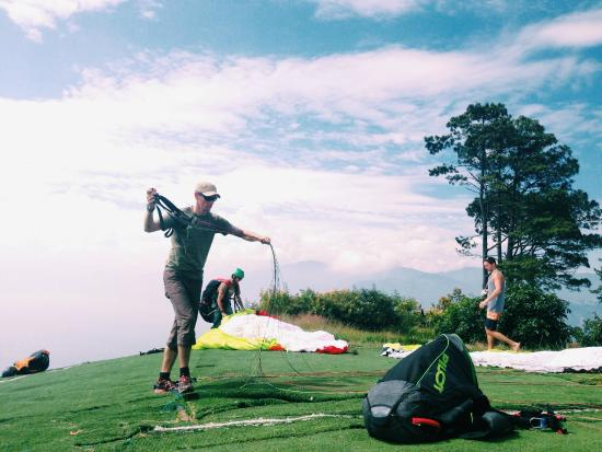 Paragliding Panajachel: Before Taking off