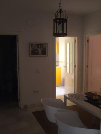 Apartamentos Mariscal : dining area. bathroom on the left kitchen to the right