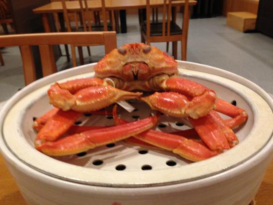Hotel Togen: 温泉水で蒸した蟹