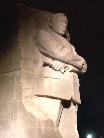 Martin Luther King, Jr. Memorial: MLK at night
