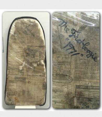 San Clemente, CA: Tom Morey's original Boogie Board - July 7, 1971
