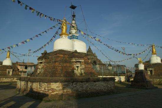 Kirtipur, Nepal: View of the Stupa from the side