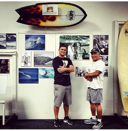 San Clemente, CA: Ben Aipa and his son Duke at SHACC