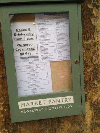Market Pantry: We do not serve drink & cake until after 4pm