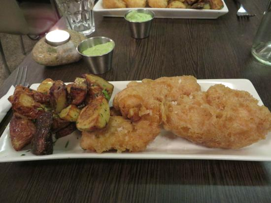 Ling and chipped potatoes and skyr dip picture of for Icelandic fish and chips