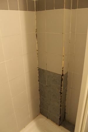 Albergo Locanda Alambra: L'interno del box doccia sembra un cantiere....