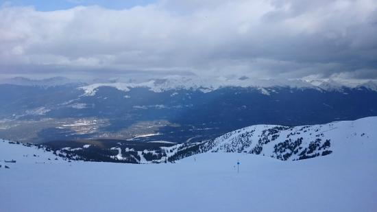 Marmot Basin Ski Area: View from the top of the Knobb Chair