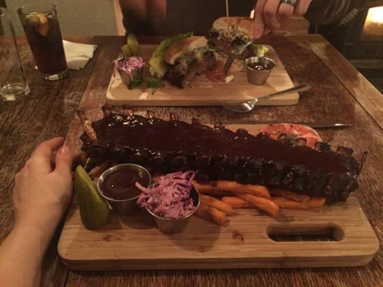 The Weathercock: The best ribs I have had in a long time, just make sure you're hungry!