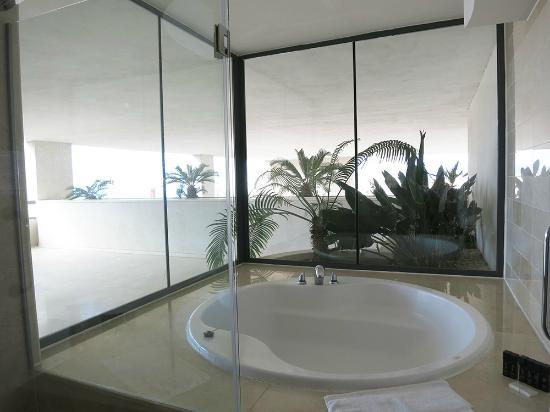 Melia Benidorm: Sea view from the bath