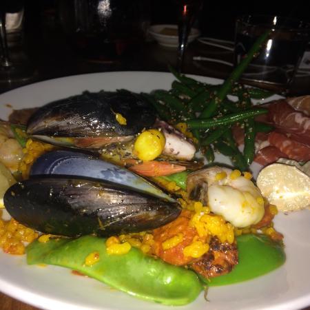 Paperbark Camp: Yummy Sunday paella dinner